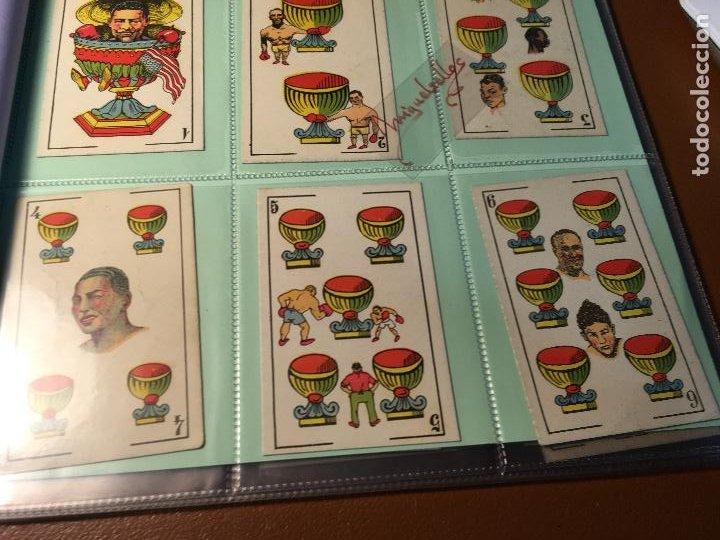 Barajas de cartas: LA BOXE , BARAJA CARTAS BOXEO , 48 CROMOS 6,X 9,5 cm . COMPLETA SIN PUBLICIDAD - Foto 12 - 241200775
