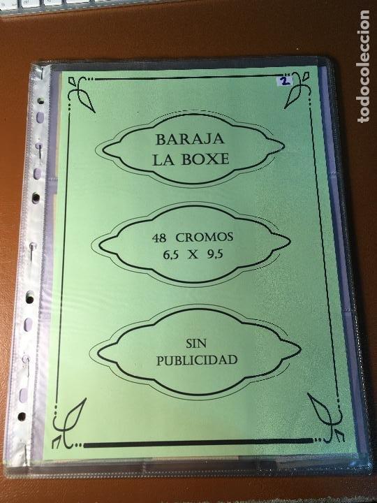 LA BOXE , BARAJA CARTAS BOXEO , 48 CROMOS 6,X 9,5 CM . COMPLETA SIN PUBLICIDAD (Juguetes y Juegos - Cartas y Naipes - Otras Barajas)