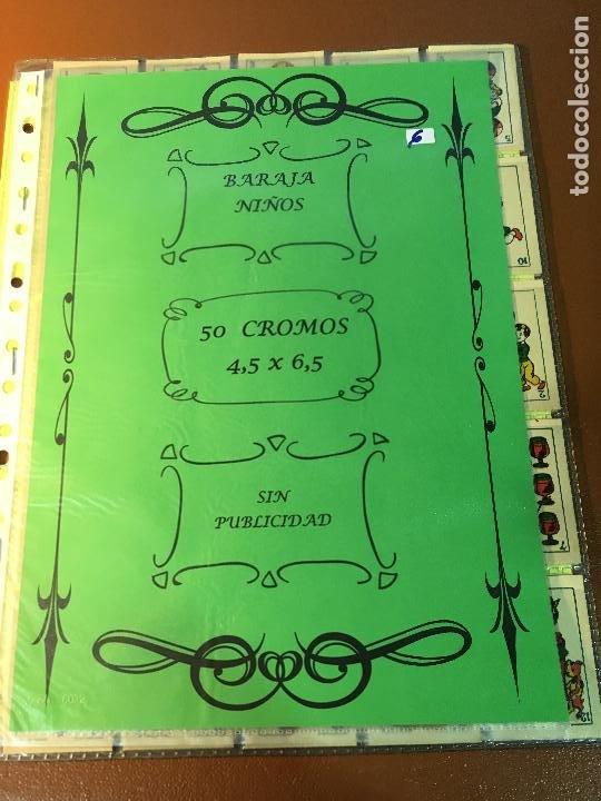 BARAJA DE NIÑOS . NAIPES/ CARTAS 50 CROMOS 4,5 X 6,5 CM COMPLETA .NO VISTA (Juguetes y Juegos - Cartas y Naipes - Otras Barajas)
