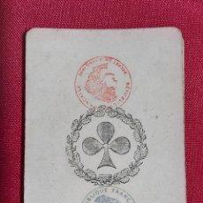 Barajas de cartas: BARAJA DE CARTAS FRANCESA S.XIX. REPUBLIQUE FRANÇAISE. DECRET DU 12 AVRIL 1890. COMPLETA. Lote 241264380