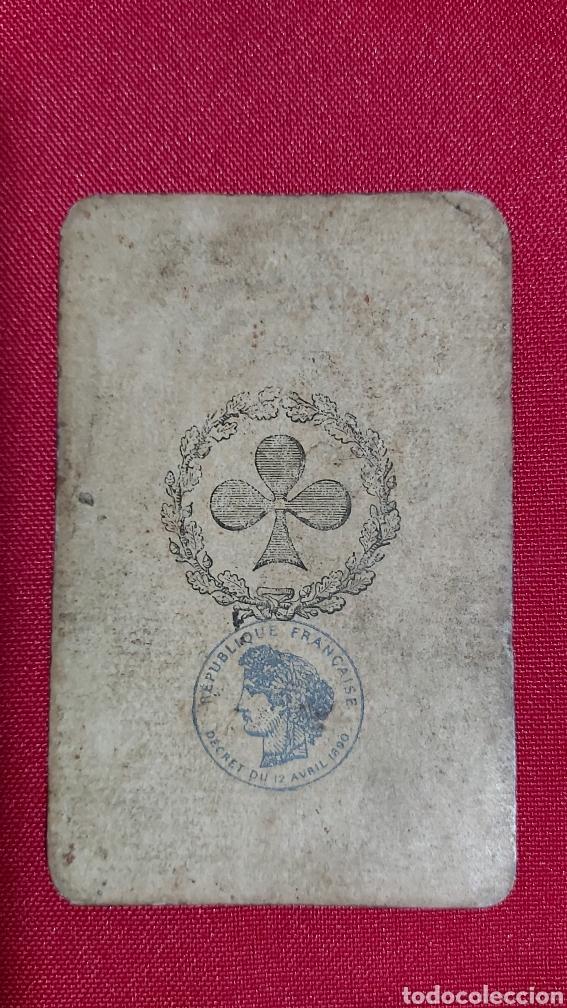 BARAJA DE CARTAS FRANCESA S.XIX. REPUBLIQUE FRANÇAISE. DECRET DU 12 AVRIL 1890 (Juguetes y Juegos - Cartas y Naipes - Barajas de Póker)