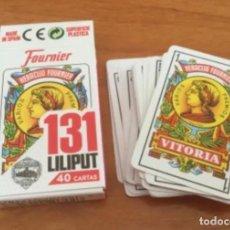 Barajas de cartas: PEQUEÑA BARAJA ESPAÑOLA LILIPUT 131 HERACLIO FOURNIER 40 CARTAS. Lote 241416365