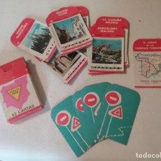 Barajas de cartas: ANTIGUA BARAJA INFANTIL EL JUEGO DE LOS CAMINOS TURÍSTICOS AÑO 1964. Lote 242119760