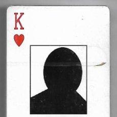 Barajas de cartas: BARAJA 1ª DE LOS CABECILLAS DE OSAMA B.L.SIN USO -IMPORTANTE LEER DESCRI ENVIOS Y VER FOTOS. Lote 242167800