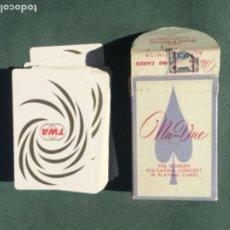 Barajas de cartas: BARAJA DE CARTAS TWA NU-VUE VINTAGE 1964. Lote 242195305