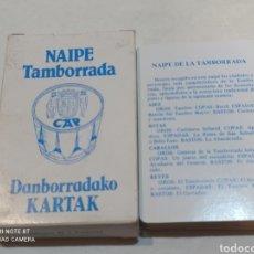 Barajas de cartas: ANTIGUA BARAJA DE NAIPE TAMBORRADA. Lote 243060020
