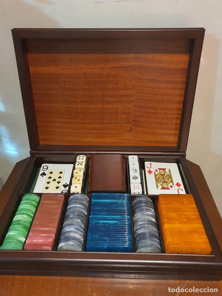 Barajas de cartas: Magnifica caja de madera para jugar al póker - Foto 2 - 243079200