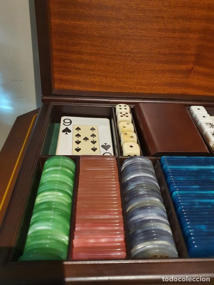 Barajas de cartas: Magnifica caja de madera para jugar al póker - Foto 3 - 243079200