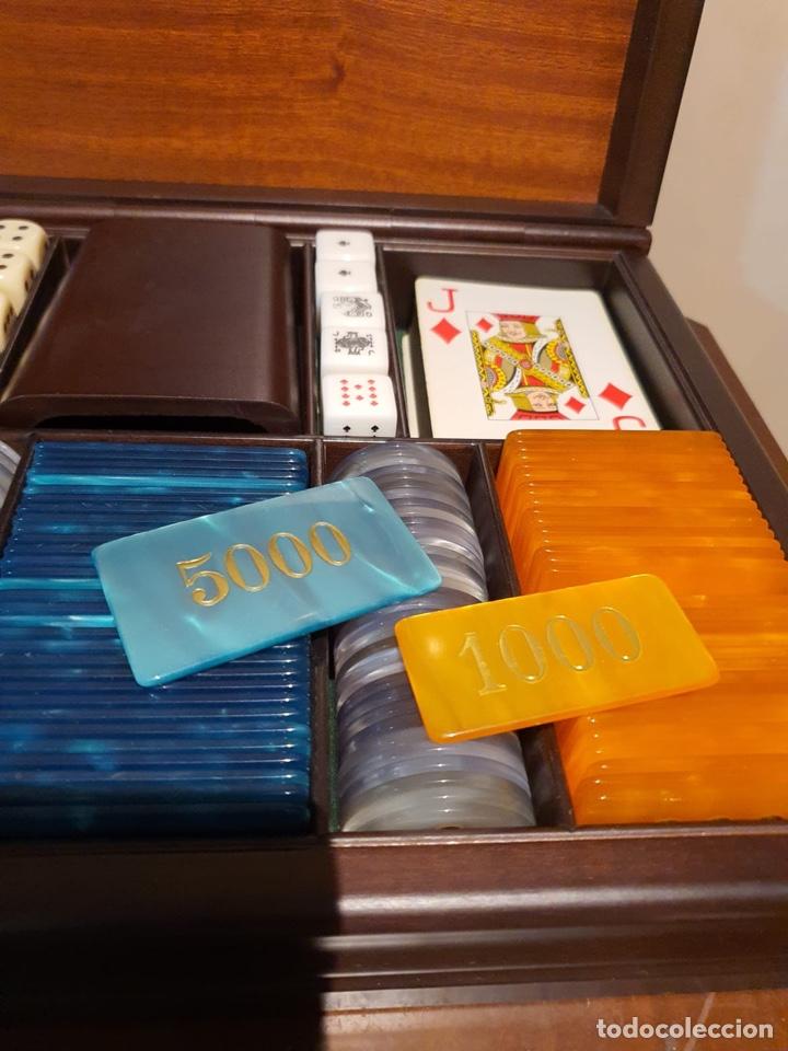 Barajas de cartas: Magnifica caja de madera para jugar al póker - Foto 4 - 243079200