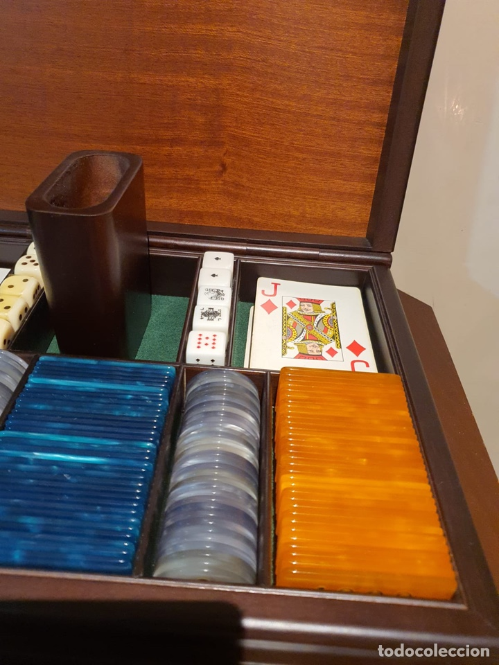 Barajas de cartas: Magnifica caja de madera para jugar al póker - Foto 6 - 243079200