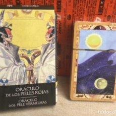 Baralhos de cartas: BARAJA TAROT - ORÁCULO DE LOS PIELES ROJAS - EDICIONES ÓRBIS FABBRI RBA - 2002 -REF,33. Lote 243099445