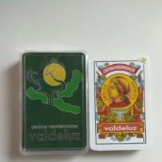 Barajas de cartas: BARAJA DE CARTAS PUBLICIDAD CENTROS RESIDENCIALES VALDELUZ 40 NAIPES NUEVA RARA. Lote 243171955
