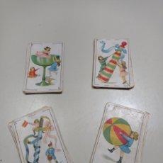 Barajas de cartas: ANTIGUA BARAJA DE CARTAS NAIPES CON ILUSTRACIONES INFANTILES Y CROMOS DETRÁS. CHOCOLATES RAFAEL REIG. Lote 243228995