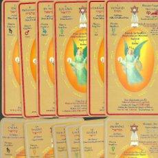 Barajas de cartas: MUY RARA BARAJA DE TAROT DE SIGNOS DEL ZODIACO TRES CARTAS DE TAURO REPARADAS PERO BIEN VER FOTOS. Lote 243447175