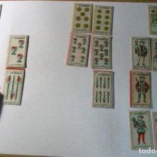 Barajas de cartas: LOTE 16 CARTAS NAIPES . HOJA CUCHILLA DE AFEITAR LA BARAJA . MARAVILLA CON CAJA DE CARTON 11 COPAS. Lote 243467270