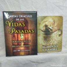 Barajas de cartas: CARTAS ORACULO DE LAS VIDAS PASADAS. BRIAN WEISS. DOREEN VIRTUE.. Lote 243826970