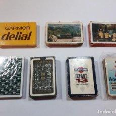 Barajas de cartas: LOTE SIETE BARAJAS PUBLICIDAD.. Lote 244200165