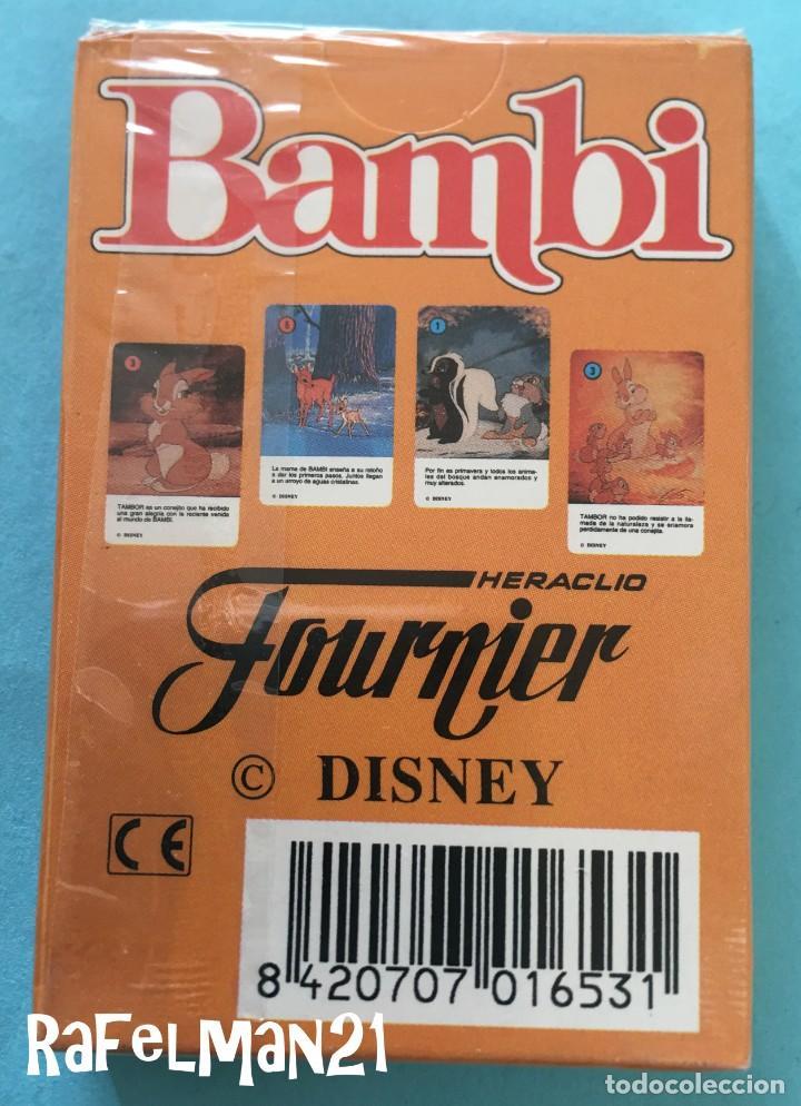 Barajas de cartas: BARAJA INFANTIL FOURNIER - BAMBI de WALT DISNEY - PRECINTADA - IMPECABLE - Foto 2 - 244760560
