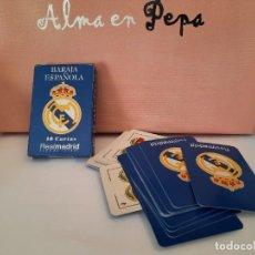 Barajas de cartas: BARAJA CARTAS NAIPE ESPAÑOL REAL MADRID. Lote 244816715