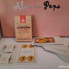Barajas de cartas: BARAJA CARTAS NAIPES COMAS TABACO COBURN. Lote 244818115