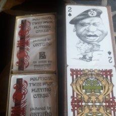 Barajas de cartas: ESTUCHE CON DOS BARAJAS DE NAIPES DE FOURNIER, PERSONAJES,. Lote 244835540