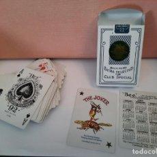 "Barajas de cartas: BARAJA CARTAS NAIPES THE JOKER "" BEE "" BACK NO 67 EXTRA SELECTED FOR CLUB SPECIAL CASINO (CALENDARIO. Lote 244842535"
