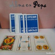 Barajas de cartas: BARAJA CARTAS NAIPES COMAS EPIDOR (40 CARTAS SIN CAJETILLA). Lote 244845085