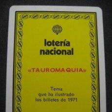 Barajas de cartas: BARAJA FOURNIER POKER ESPAÑOL. LOTERIA NACIONAL 1971 BILLETES TAUROMAQUIA. Lote 244919050