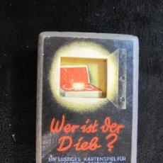 Barajas de cartas: BARAJA ANTIGUA-JUEGO DE CARTAS-WER IST DER DIEB?-QUIEN ES EL LADRON-VER FOTOS-(CR-2507). Lote 245090450