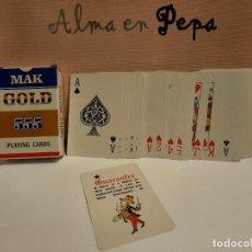 Barajas de cartas: BARAJA CARTAS NAIPES POKER MAK GOLD 555. Lote 245112565