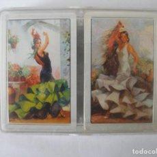 Barajas de cartas: ESTUCHE FLAMENCAS CON DOS BARAJAS DE 55 CARTAS DE POKER FOURNIER 1992 SIN USO. Lote 245391510