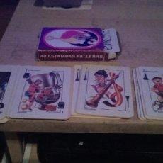 Barajas de cartas: BARAJA DE CARTAS PUBLICITARIA ESTAMPAS FALLERAS 40 ESTAMPAS. Lote 245741295
