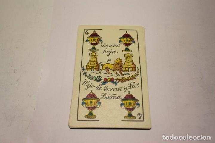 Barajas de cartas: BARAJA NAIPES HIJO DE TORRAS Y LLEO (BARCELONA) COMPLETAMENTE NUEVA SIN USAR AÑOS 1930 - Foto 4 - 245981800