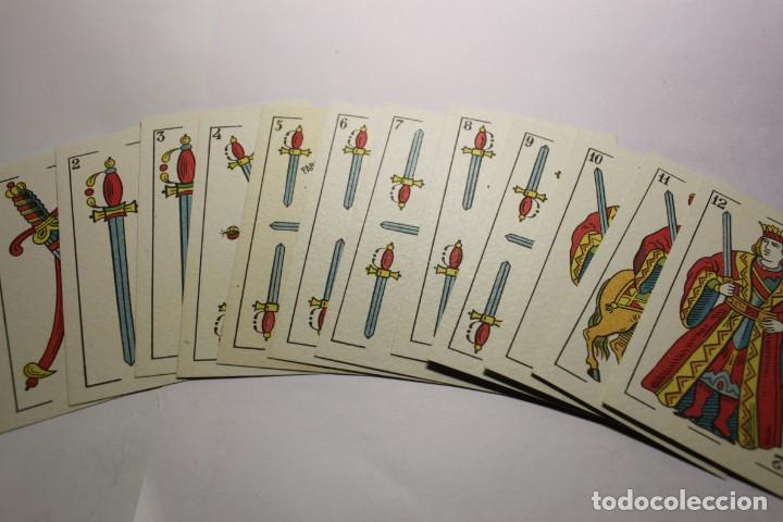 Barajas de cartas: BARAJA NAIPES HIJO DE TORRAS Y LLEO (BARCELONA) COMPLETAMENTE NUEVA SIN USAR AÑOS 1931 ENVOLTORIO OR - Foto 5 - 245982460