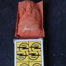 Barajas de cartas: BARAJA ESPAÑOLA FOURNIER OPEL CON AMARRACOS. Lote 246069565