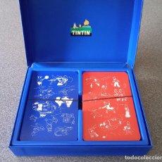 Barajas de cartas: LOTE BARAJAS DE CARTAS TINTIN. Lote 246102200