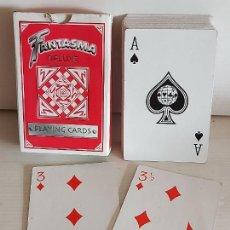 Barajas de cartas: BARAJA FANTASMA DE LUXE PLAYING CARDS / DE MAGIA / COMPLETA 53 NAIPES / BUEN ESTADO.. Lote 246140060