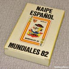 Barajas de cartas: BARAJA DE CARTAS (NAIPES) - NAIPE ESPAÑOL -: MUNDIALES 82 (MUNDIAL DE FUTBOL ESPAÑA 82). SIN USAR. Lote 246350565
