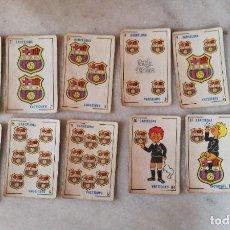 Barajas de cartas: BARAJA INFANTIL DE FUTBOL AÑOS 70. BARCELONA, BETIS, BILBAO Y R. MADRID. FALTAN 4 CARTAS DEL MADRID. Lote 246444395