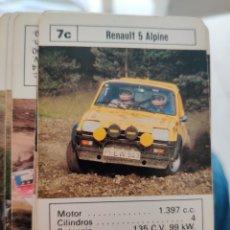 Jeux de cartes: BARAJA CARTAS FOURNIER COCHES DE RALLY 1984. Lote 247346095