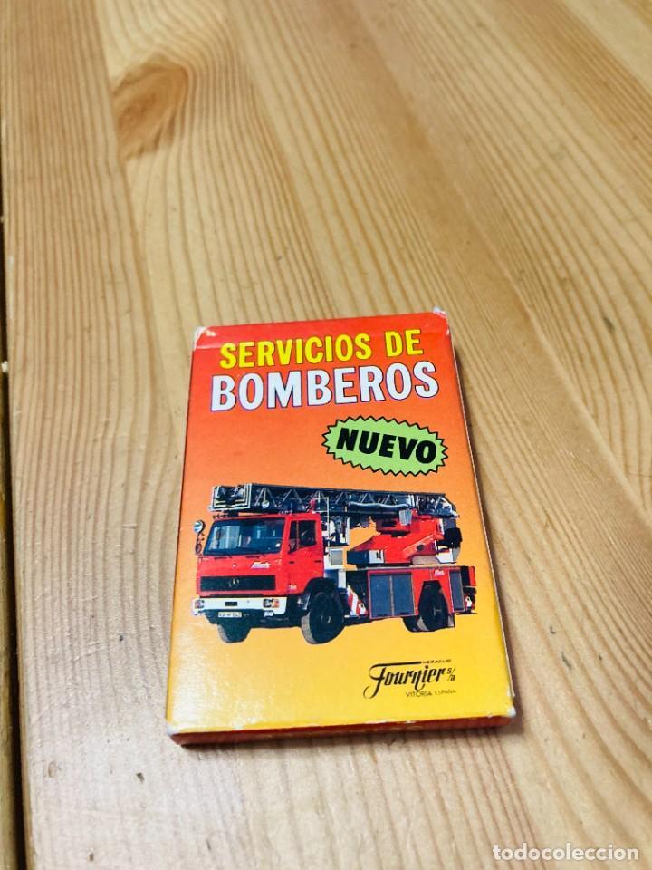 BARAJA INFANTIL SERVICIO DE BOMBEROS, JUEGO DE CARTAS ANTIGUO, HERACLIO FURNIER, BARAJA DE CARTAS (Juguetes y Juegos - Cartas y Naipes - Barajas Infantiles)
