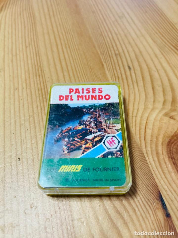 BARAJA MINI INFANTIL PAÍSES DEL MUNDO, JUEGO DE CARTAS ANTIGUO, HERACLIO FURNIER, BARAJA DE CARTAS (Juguetes y Juegos - Cartas y Naipes - Barajas Infantiles)