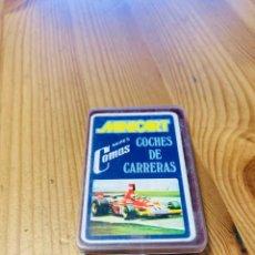 Barajas de cartas: BARAJA MINI INFANTIL COCHES DE CARRERAS, JUEGO DE CARTAS ANTIGUO, HERACLIO FURNIER, BARAJA DE CARTAS. Lote 247412530