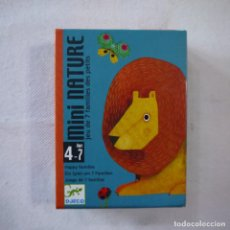 Jeux de cartes: MINI NATURE. JUEGO DE CARTAS DE 7 FAMILIAS - DJECO. Lote 247585655