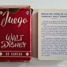 Jeux de cartes: BARAJA FOURNIER JUEGO FAMILIAS WALT DISNEY - MICKEY PINOCHO PETER PAN BAMBI BLANCA NIEVES CENICIENTA. Lote 247634160