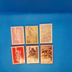 Barajas de cartas: NAIPES FOURNIER COCA COLA ANTIGUAS TRES BARAJAS COMPLETAS Y CON PAPEL DE PRECINTO. Lote 248832700
