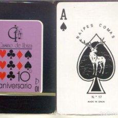 Barajas de cartas: CASINO DE IBIZA - 10º ANIVERSARIO - BARAJA DE POKER. Lote 249303680