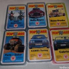 Jeux de cartes: LOTE 6 BARAJAS COCHES MOTOS CAMIONES A ESTRENAR. Lote 249579400