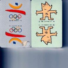 Barajas de cartas: BARAJAS POKER JUEGOS OLIMPICOS BARCELONA 92 Y COBI. Lote 251008365