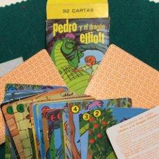 Barajas de cartas: BARAJA FOURNIER PEDRO Y EL DRAGÓN ELLIOT. Lote 223102861